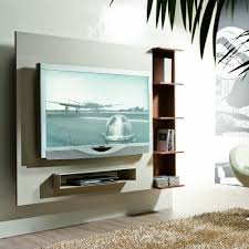 elegant living room area design with white led monitor television
