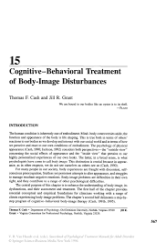 cognitive u2014behavioral treatment of body image disturbances springer