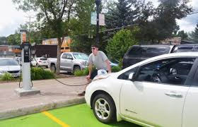 nissan leaf free charging city of steamboat devotes two parking spaces on 10th street to new