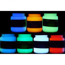 7 color glow in the dark daytime invisible paint set green blue