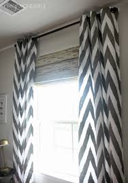Gray And White Chevron Curtains by Bamboo Roman Shades Crazy Wonderful
