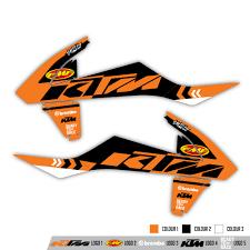motocross racing logo ktm radiator shroud graphics rival ink design co custom