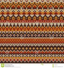 halloween knit fabric seamless knitted pattern in fair isle style stock vector image