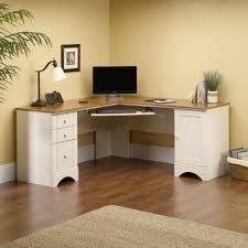 Wooden Corner Desk Top Have Slide Out Drawer For Keyboard by Marvellous Left Corner Desk Light Laminate Wood Finish