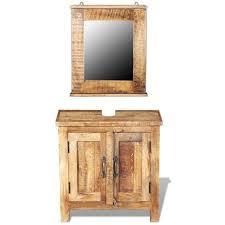 armadietto da bagno armadietto da bagno vanity con specchio legno massello di mango