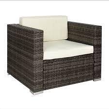 6pc outdoor patio garden wicker furniture rattan sofa set