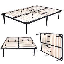 wood slats metal platform bed frame mattress foundation 4 size