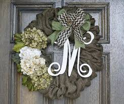 monogram burlap wreath year wreath by theembellishedhome
