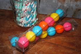 Gumball Party Favors 12 Clear Candy Tubes Favor Box 1x1x8 1