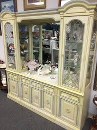 1960 u0027s stanley furniture marble top buffet china cabinet
