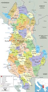 Political Map Of Europe by Maps Of Albania Albania Detailed Map In English Tourist Map
