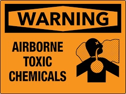 airborne toxic chemicals wall sign
