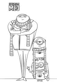 felonious gru minions coloring free printable coloring