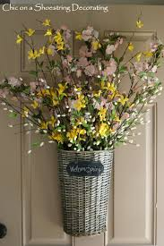 Spring Decorating Ideas Front Door Decorations For Spring Chic On A Shoestring