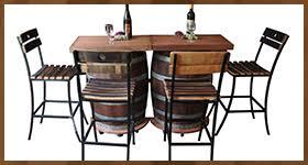 Wine Barrel Patio Table Barrel Furniture From Authentic Reclaimed Oak Wine Barrels