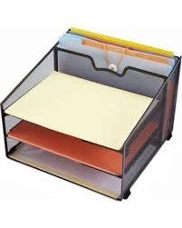 Paper Desk Organizer Amazing Deal On Rackarster Vertical Mesh Office Desk Organizer