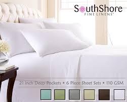 amazon com southshore fine linens 6 piece extra deep pocket