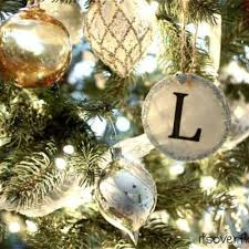 pottery barn inspired monogram ornaments diy ornaments