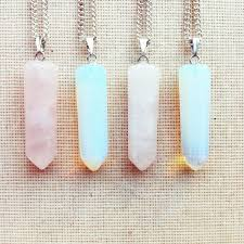 quartz gemstone necklace images Necklace point necklace moonstone necklace pink quartz necklace jpg