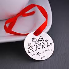 personalized christmas ornament stick family stick family