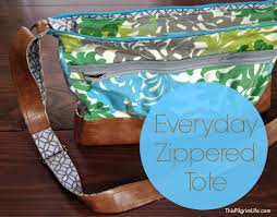 pattern for tote bag with zipper everyday zippered tote tutorial this pilgrim life
