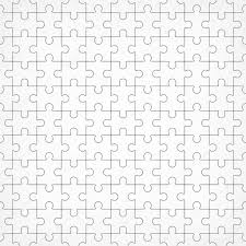 jigsaw puzzle blank template pieces are easy to separate u2014 stock