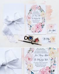 a peek into the studio floral watercolor wedding invitations