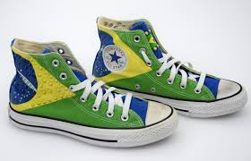 Converse American Flag Shoes Converse All Star Woman Sneaker Shoes Brasil Flag Canvas Code
