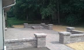 Patio Paver Blocks Block Walls Around Patios Grading Landscaping Paver Patios