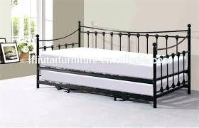 lit canape fer forge banquette en metal noir 90 x 200 sans matelas