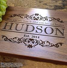 where to register for housewarming housewarming personalized engraved cutting board