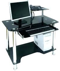 Small Glass Computer Desk Glass Computer Desk Uk S Small Glass Corner Desk Uk Clicktoadd Me