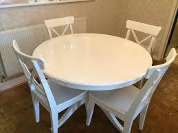 Ikea White Pedestal Table White Round Dining Table Ikea 44 With White Round Dining Table