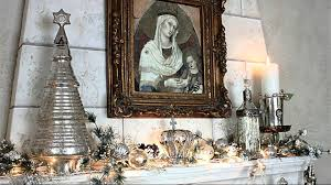white and silver christmas interior decorating ideas youtube