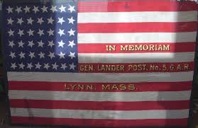 Flag Of Massachusetts Flying Tiger Antiques Online Store Circa 1891 1896 44 Star Silk