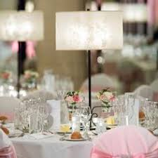 Lamp Centerpieces For Weddings by Lamp Shades Matched The Swanky Space And The Vases Were Filled