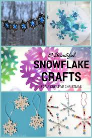 creative christmas 10 snowflake crafts in the playroom
