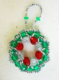 27 best beaded ornaments images on pinterest beads beaded