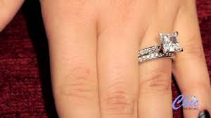 princess cut cubic zirconia wedding sets delicate wedding ring set with 2 carat princess cut cubic zirconia