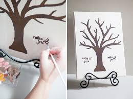 wedding tree guest book make this diy painted guest book tree