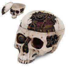 Mechanical Decor Amazon Com 7 25 Inch Mechanical Steampunk Open Skull Box Statue