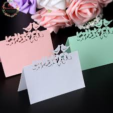 place cards wedding big heard 40pcs laser cut birds table name cards place
