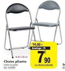 chaise pliante carrefour carrefour promotion chaise pliante produit maison carrefour