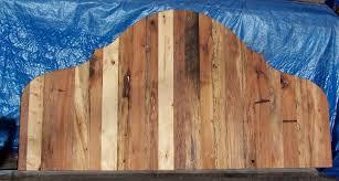 custom made french country reclaimed wood handmade headboard by