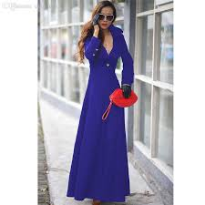 best wholesale 2015 winter woolen extra long trench coat for women