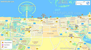 Emirates Route Map by Dubai Tourist Attractions Map Dubai Map With Tourist Attractions
