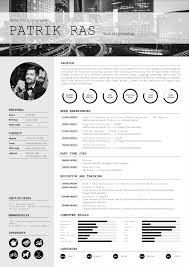 Indesign Resume Tutorial 2014 Resume Cv Template Graphics Blackandwhite Bw Icons