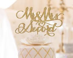 gold wedding cake topper wedding cake toppers etsy