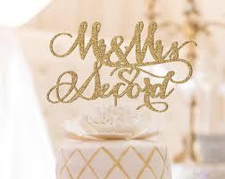 gold wedding cake toppers wedding cake toppers etsy