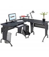 Large Black Computer Desk Piranha Computer Desks Unicorn Large Black Corner Computer Desk